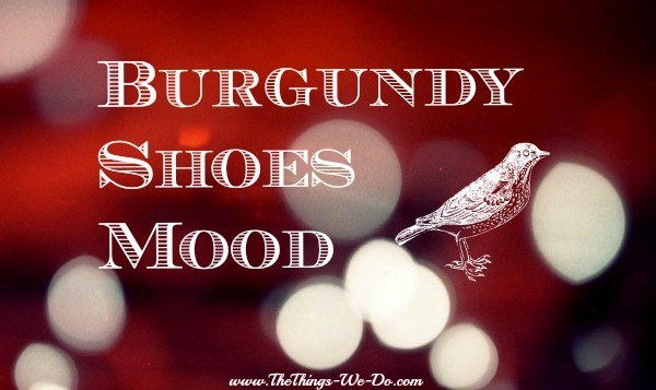 Burgundy Shoes Mood