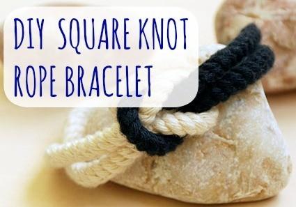 DIY Square Knot Rope Bracelet